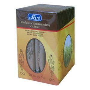 Brūna cukura standziņas ALVO 5g,  50gab. iepakojumā