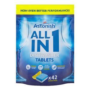 ASTONISH ALL in 1 tabletes trauku mazgājamām mašīnām,  42gab.
