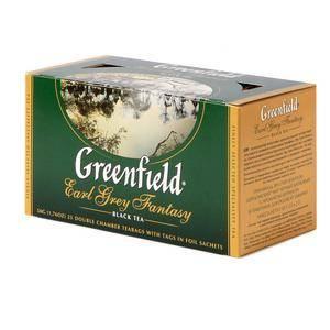 GREENFIELD Earl Grey Fantasy melnā tēja 25x2g