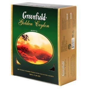 GREENFIELD Golden Ceylon melnā tēja 100x2g