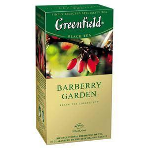 GREENFIELD Barberry Garden melnā tēja 25×1, 5gr.