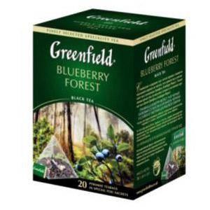 GREENFIELD Blueberry Forest melnā tēja 20×1.8g