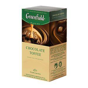 GREENFIELD Chocolate Toffee melnā tēja 25 x 1.5g