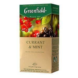 GREENFIELD Currant&Mint melnā tēja 25×1.8g