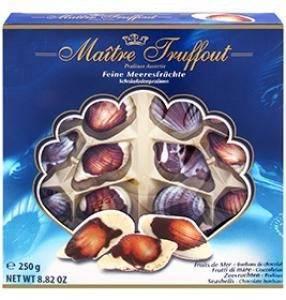 Konfektes Jūras gliemeži Maitre Truffout 250g Belgija