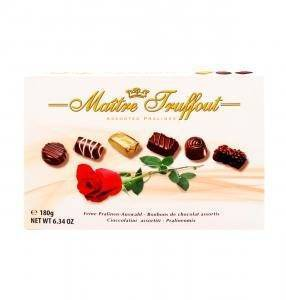 Konfektes šokolādes asorti rozes 180g
