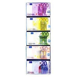 Piena šokolāde EURO banknotes iepak.5x15gr