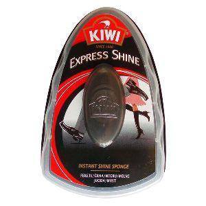 Apavu spodrināšanas švammīte KIWI Express Shine,  melna krāsa