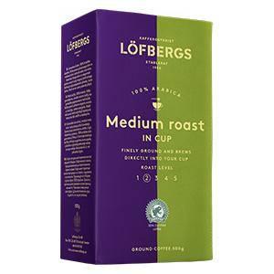 Kafija maltā LOFBERGS Medium roast in cup,  500g.