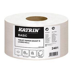 Tualetes papīrs Basic KATRIN Gigant S,  1sl. 150m,  nebalināts