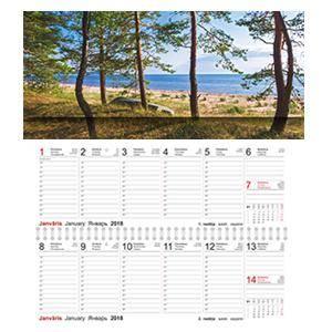 *Galda kalendārs OPTIMA LUX 2 nedēļas,  kartona vāki