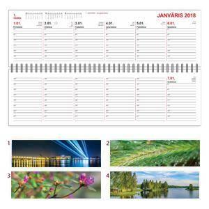 *Galda kalendārs LONG,  1 nedēļa,  kartona vāki,  2018g