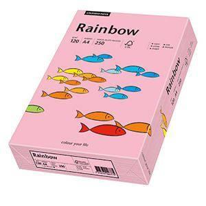 Krāsains papīrs A4,  120g/m2,  250 loksnes,  55 rozā