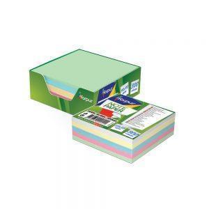 Papīrs piezīmēm kastē 9x9cm, 300 lpp, krāsains