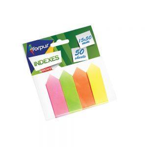 Papīra indeksi-bultiņas, 4 krāsas, 15x50mm