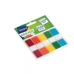Indeksi PVC 12×44 mm, 5 krāsu x 25 lpp