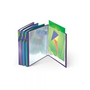 Mape prospektiem A4, 20 lpp, violeta-metāliska krāsa