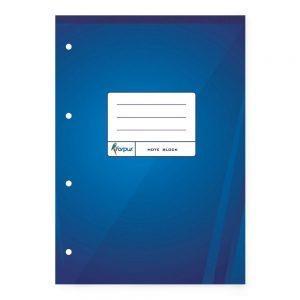 Bloknots A4 70 lpp rūtiņu ar caurumiem, zilos vākos