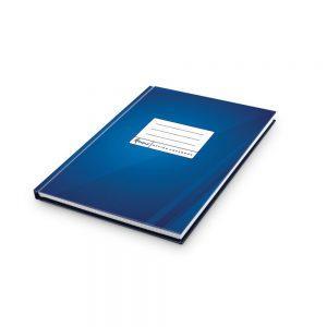 Kantorgrāmata A4 96lpp, rūtiņu matēta zila, papīra svars 60g/m2