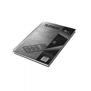 Kantorgrāmata ar spirāli PLATINUM A4 120lpp rūtiņu