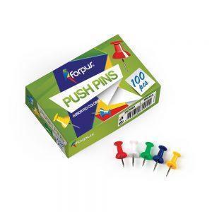 Piespraudes (push-pin) tāfelei 100gab., krāsainas