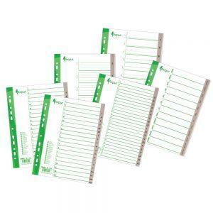 Sadalītājs dokumentiem FORPUS 1-10 plastikāta A4