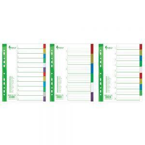 Sadalītājs dokumentiem FORPUS 1-10 krāsains A4
