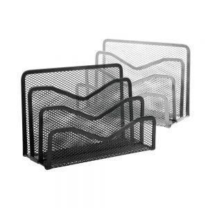 Vēstuļu turētājs, 16 x 8 x 10 cm, melns